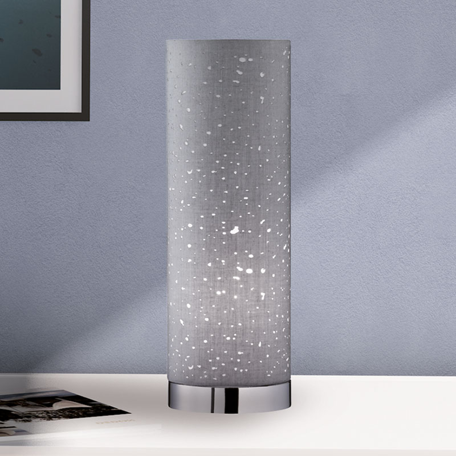 Tafellamp Thor grijs