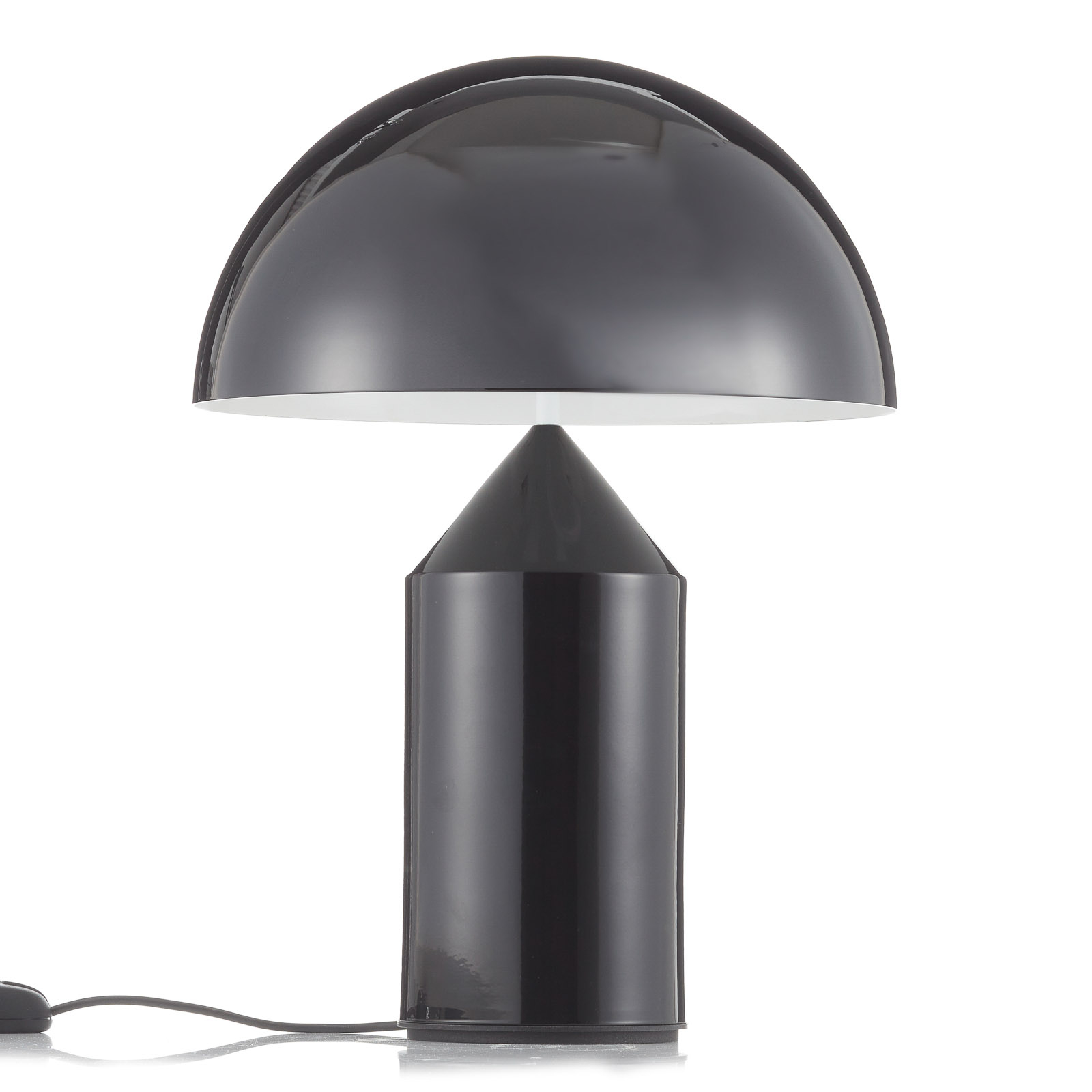 Oluce Atollo - lampe à poser de designer, noire