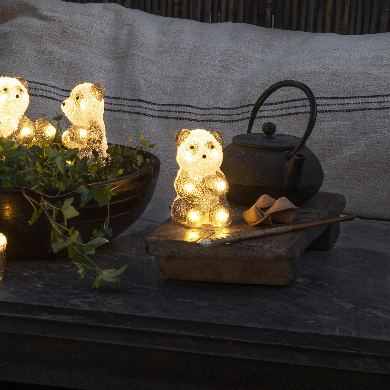 LED-Leuchtfigur Pandabär, 5er-Set als Kette