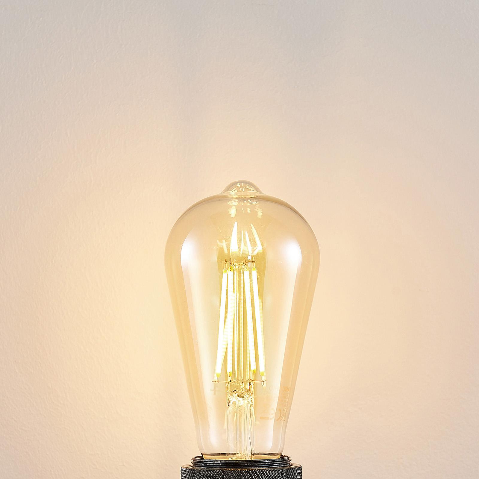 Żarówka LED E27 ST64 6,5W 2500K bursztynowa