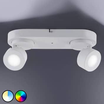 Trio WiZ Sancho LED-spotlight, 2 lampor