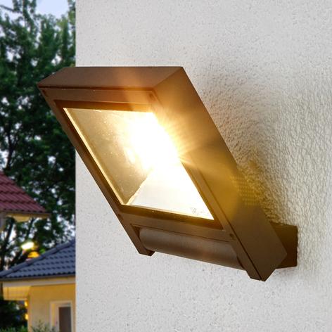 Donkergrijze LED spot Maico voor buiten