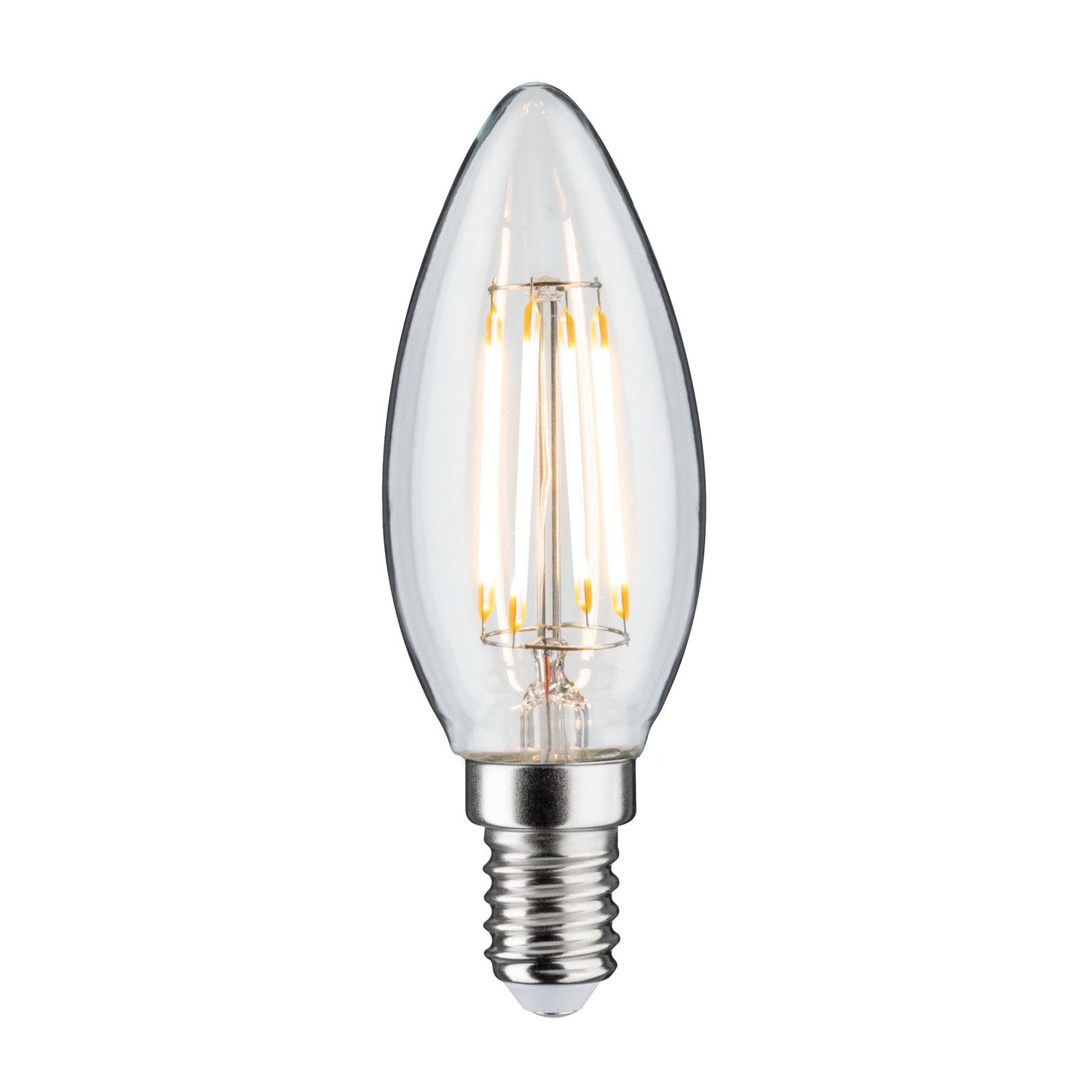 LED-kertepære E14 4,8W filament 2.700K, kan dæmpes