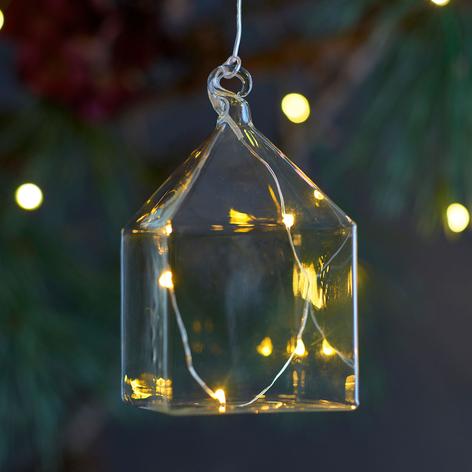 Zawieszka dekoracyjna LED Rebecca House, 11 cm