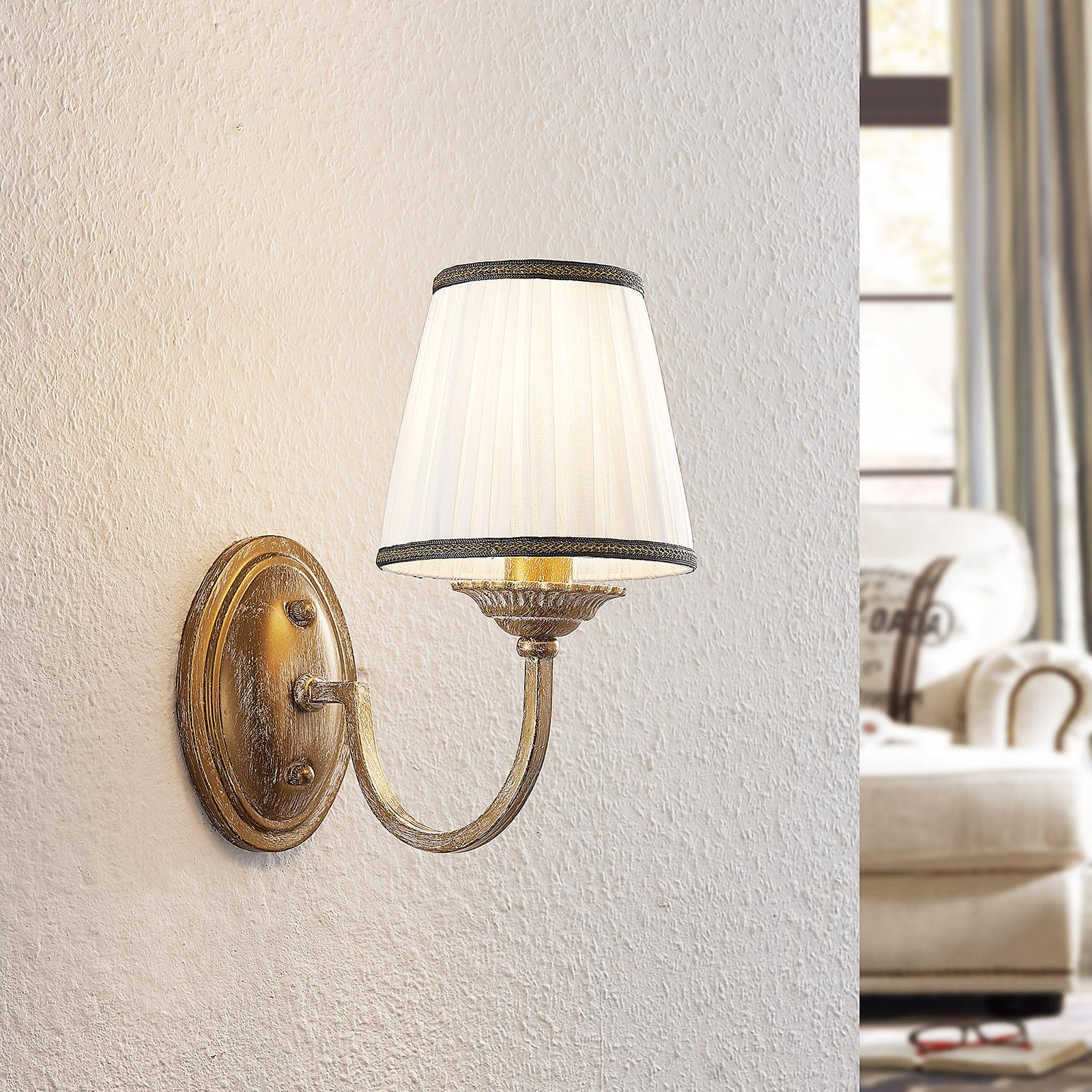 Lindby Lumiel wandlamp met stoffen kap