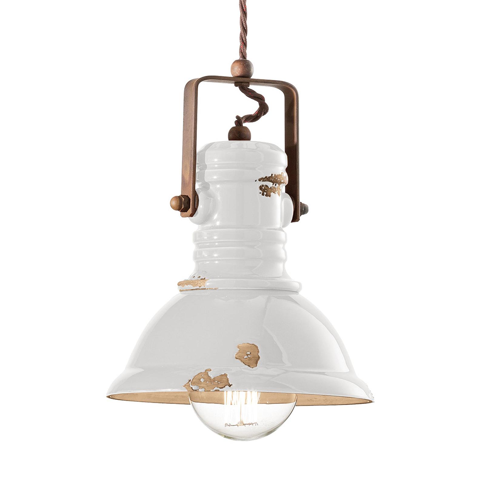 Hanglamp C1691 in industrieel design wit