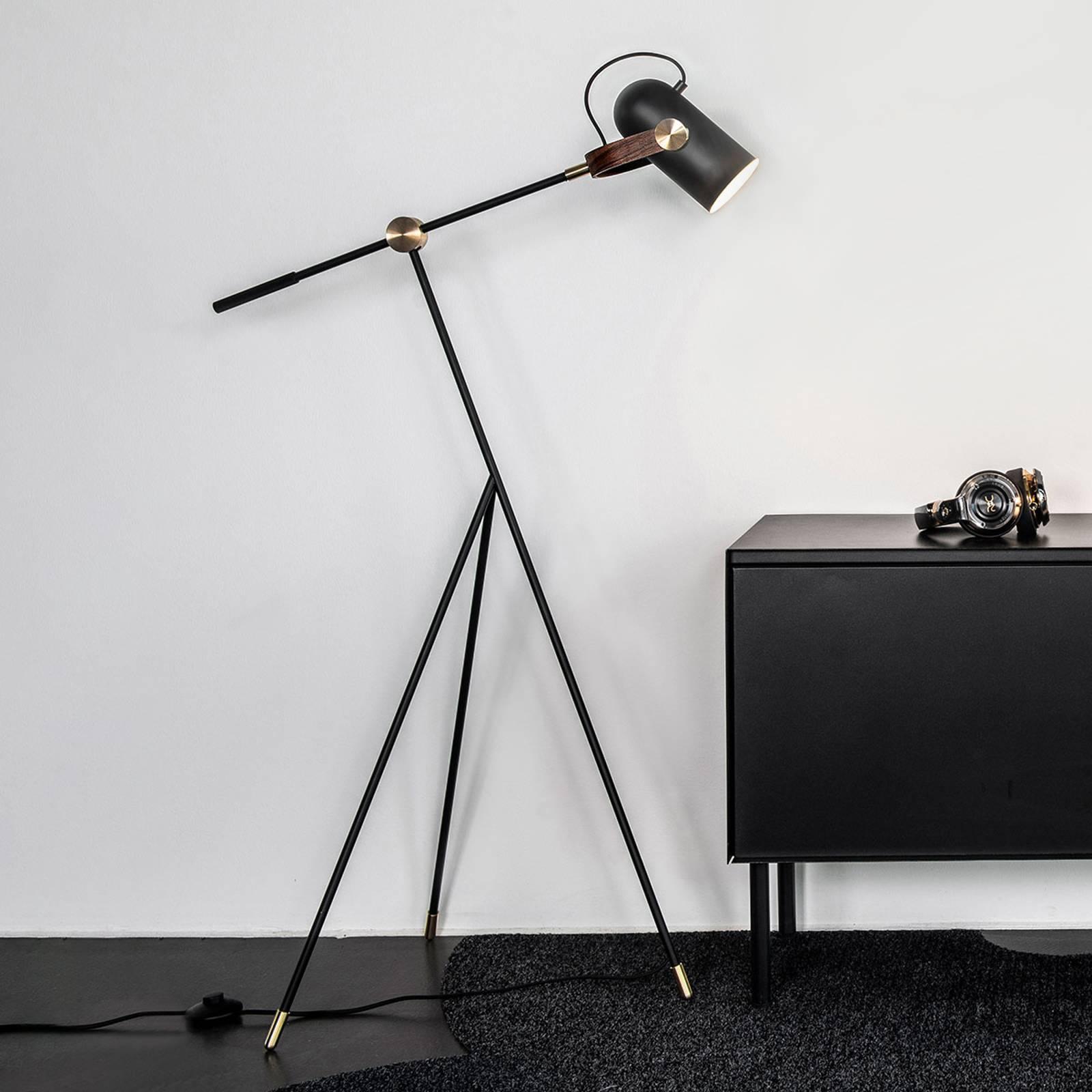 LE KLINT Carronade Low - zwarte vloerlamp