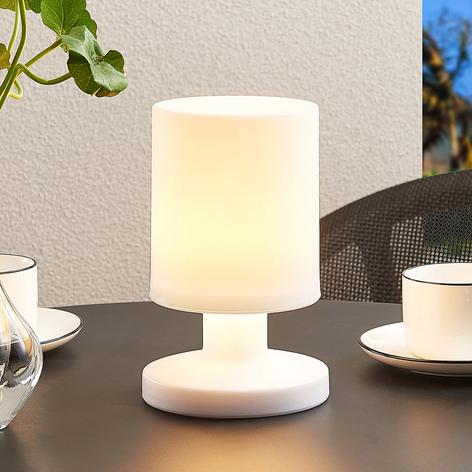 Lindby Grisella lámpara de mesa con batería, IP44