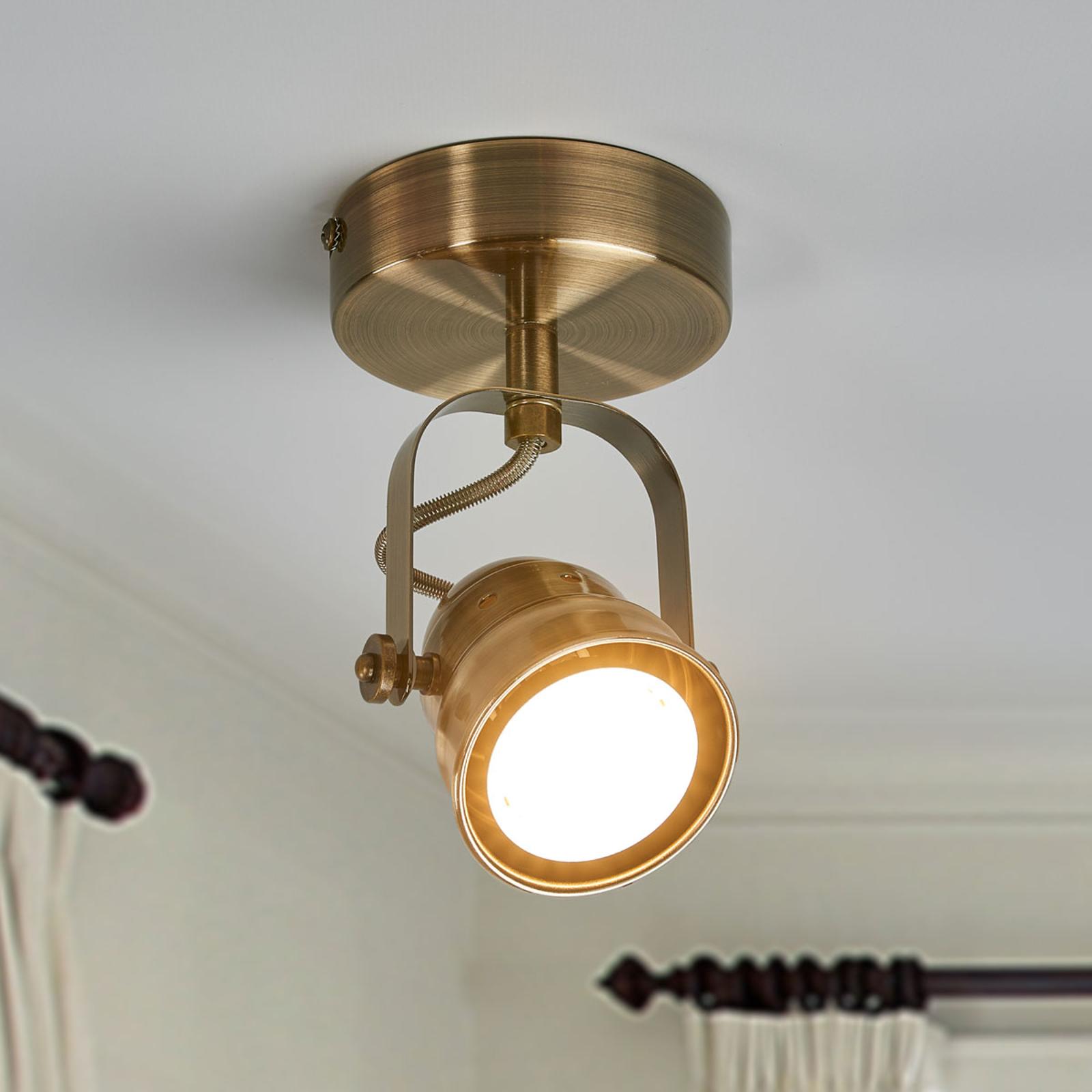 LED nástěnné svítidlo Leonor, patinovaná mosaz