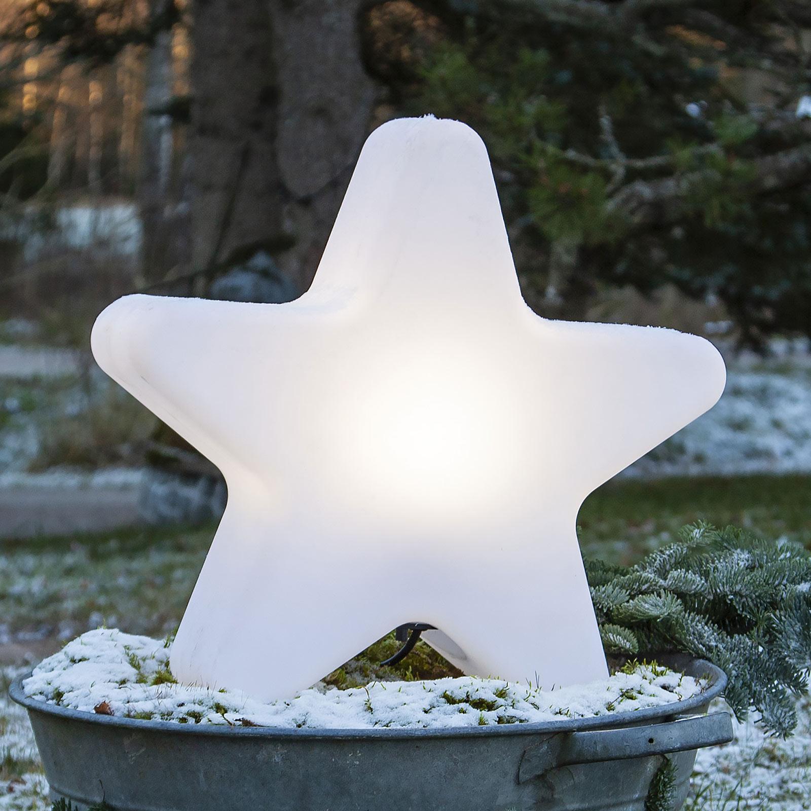 Lámpara de terraza Gardenlight, forma de estrella