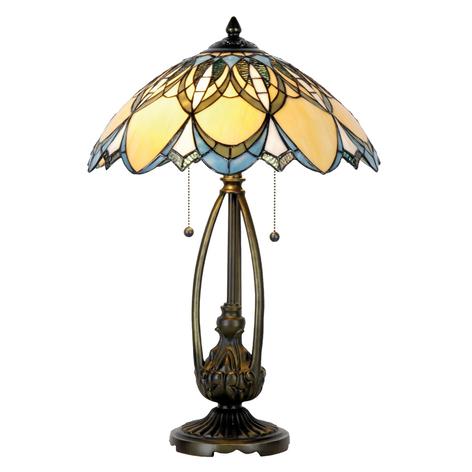 Tischleuchte Poseidon im Tiffanystil