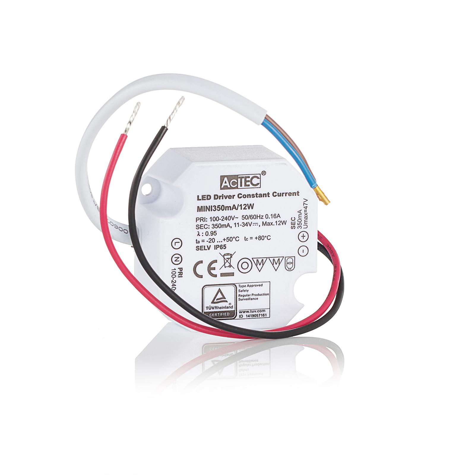 AcTEC Mini LED-driver CC 350 mA, 12 W, IP65