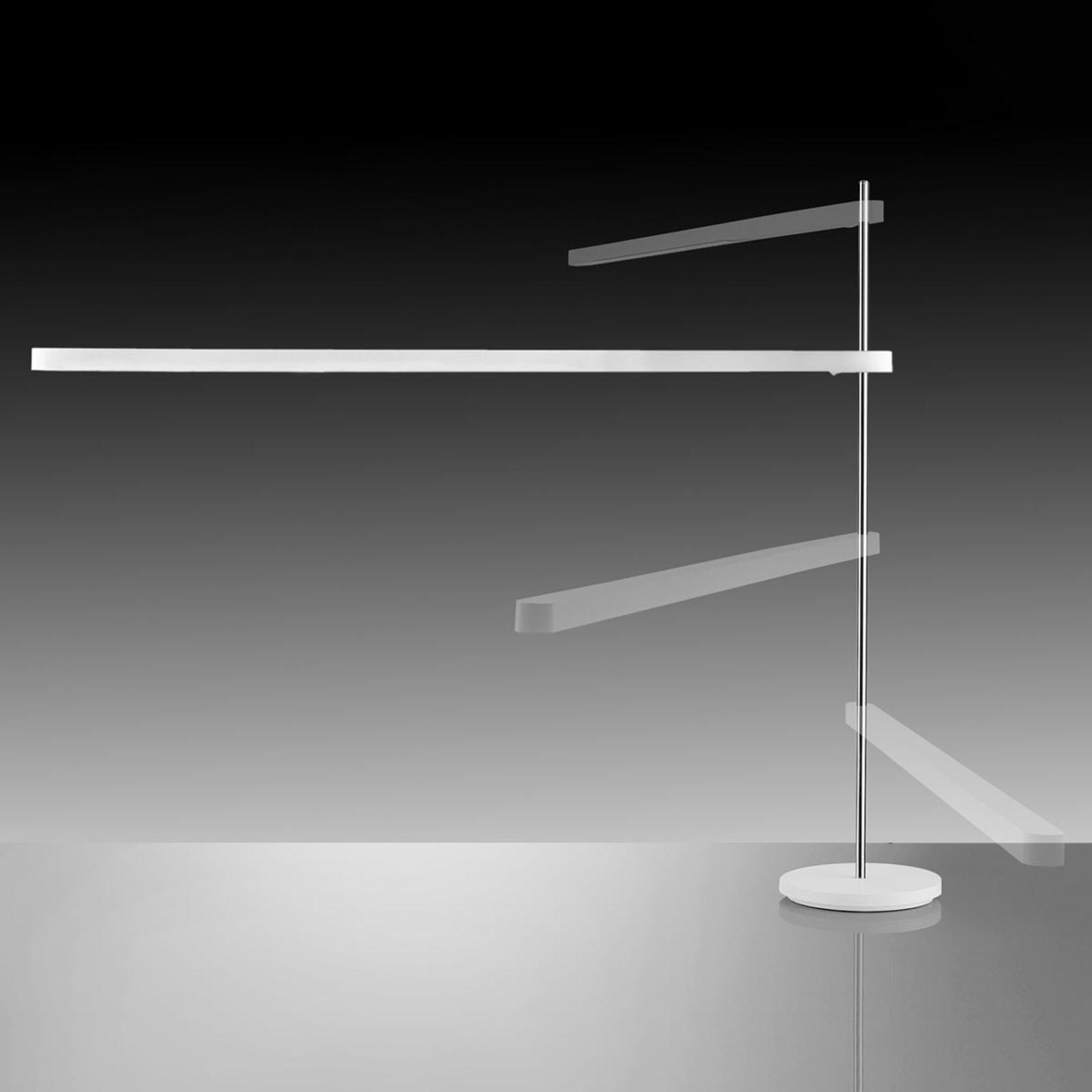 Lámpara de mesa LED Talak Professional, blanco