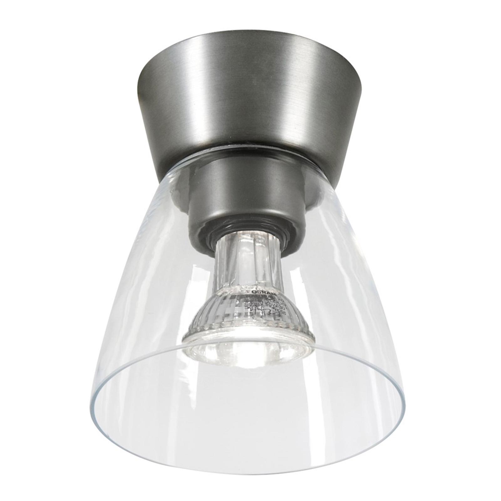 LED plafondlamp Bizzo helder glasoxide grijs