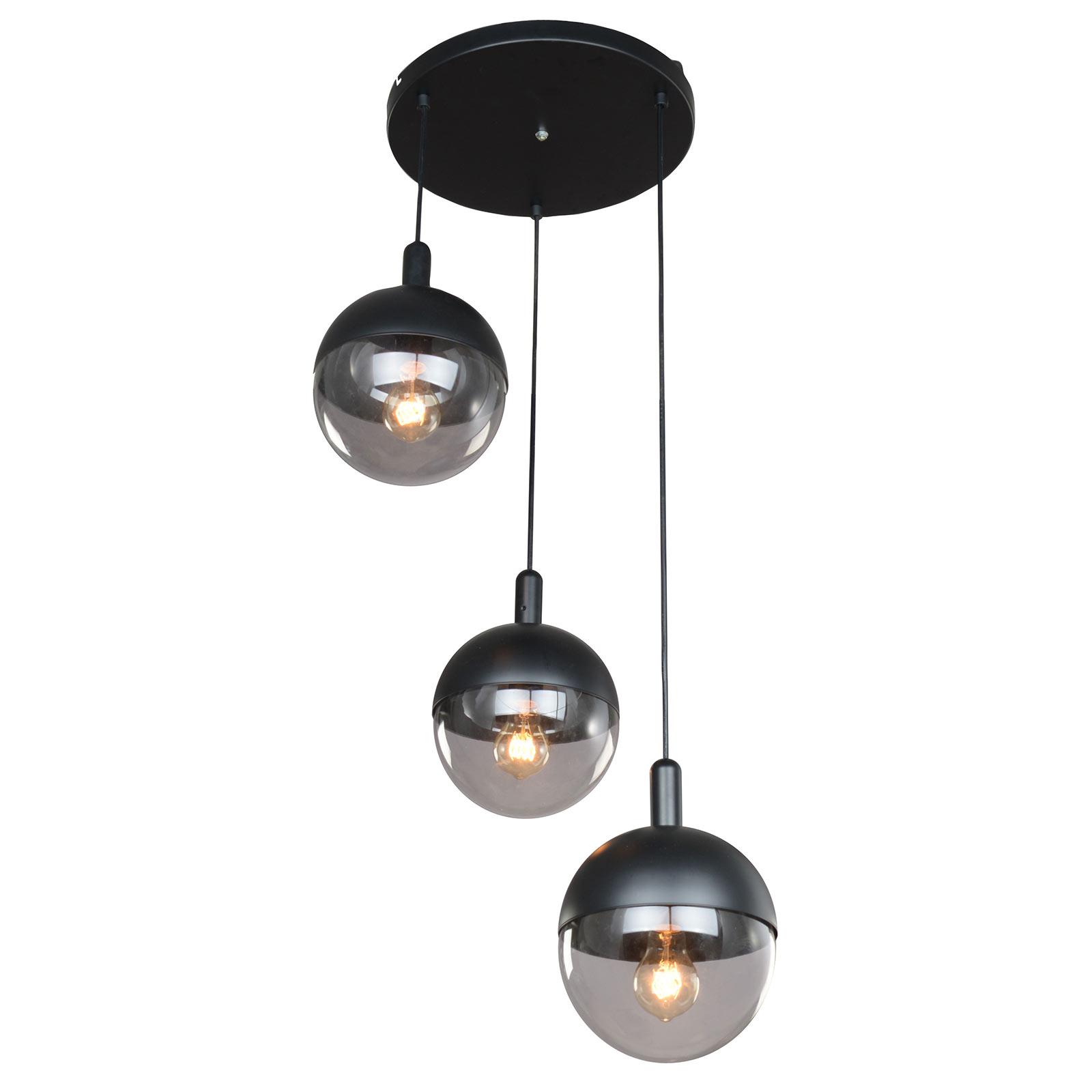 Lucande Dustian lampa wisząca, 3-pkt., 51 cm