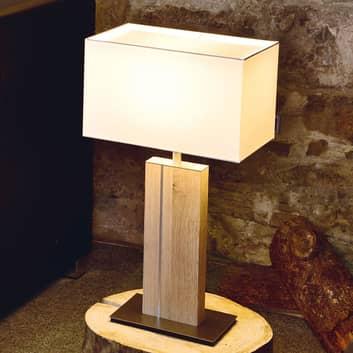 HerzBlut Miss Hilton drewniana lampa stołowa