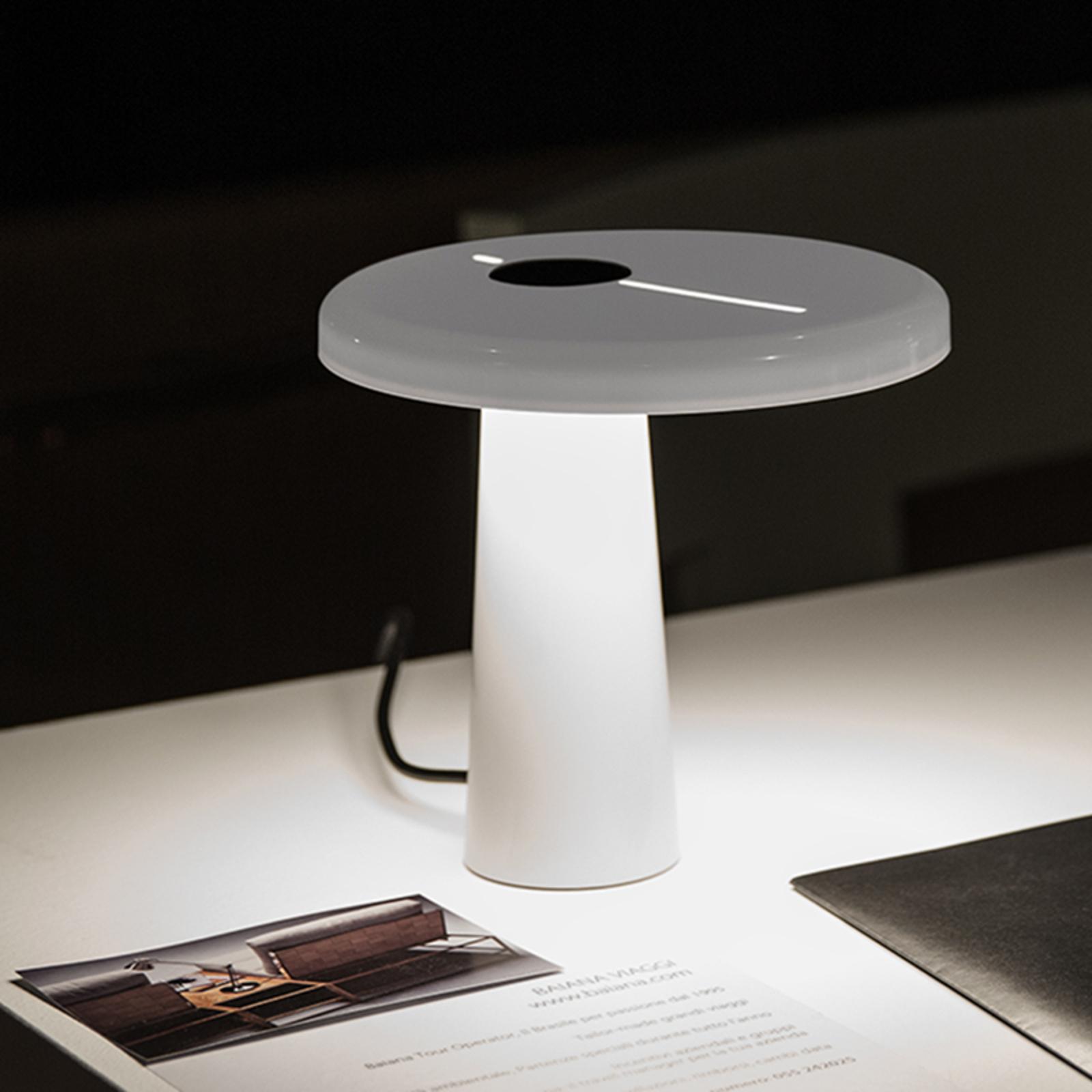 Martinelli Luce Hoop - LED-Tischleuchte in Weiß