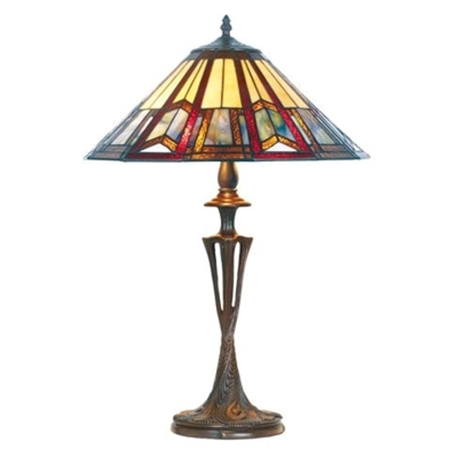 Elegancka lampa stołowa LILLIE w stylu Tiffany