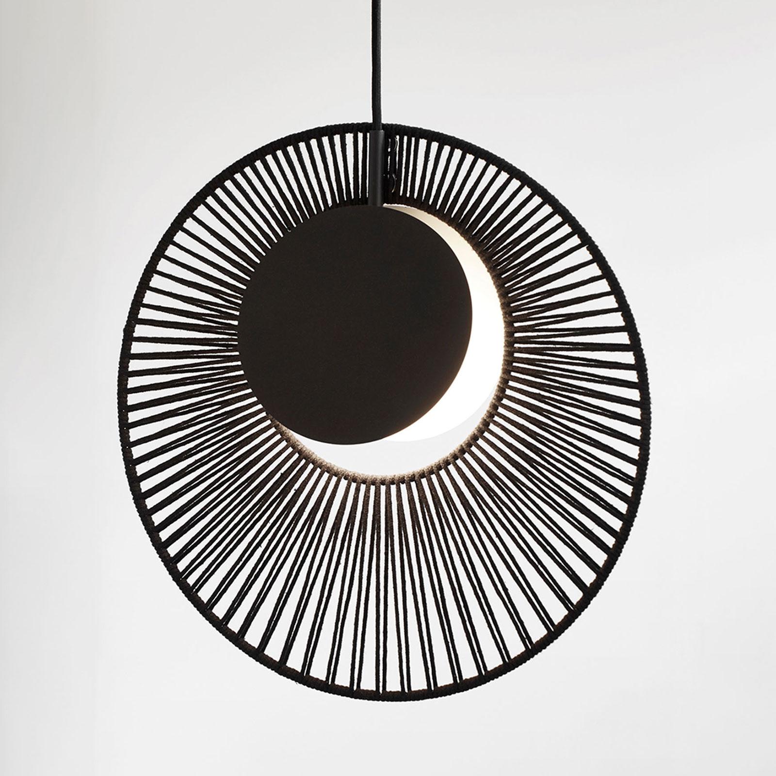 Forestier Oyster design-hanglamp, zwart