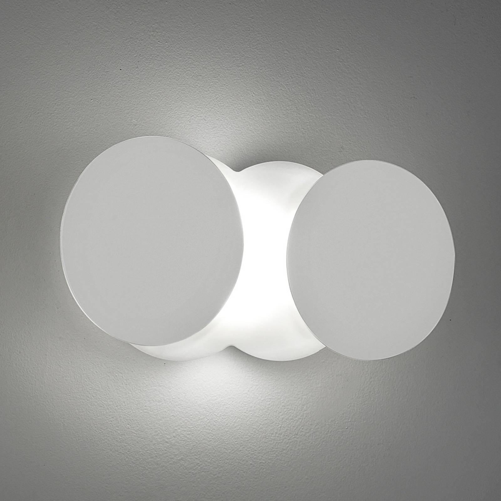Veranderlijke LED wandlamp Nuvola, wit