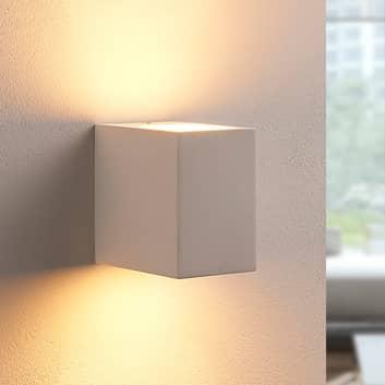 Aplique LED Jannes de escayola, blanco