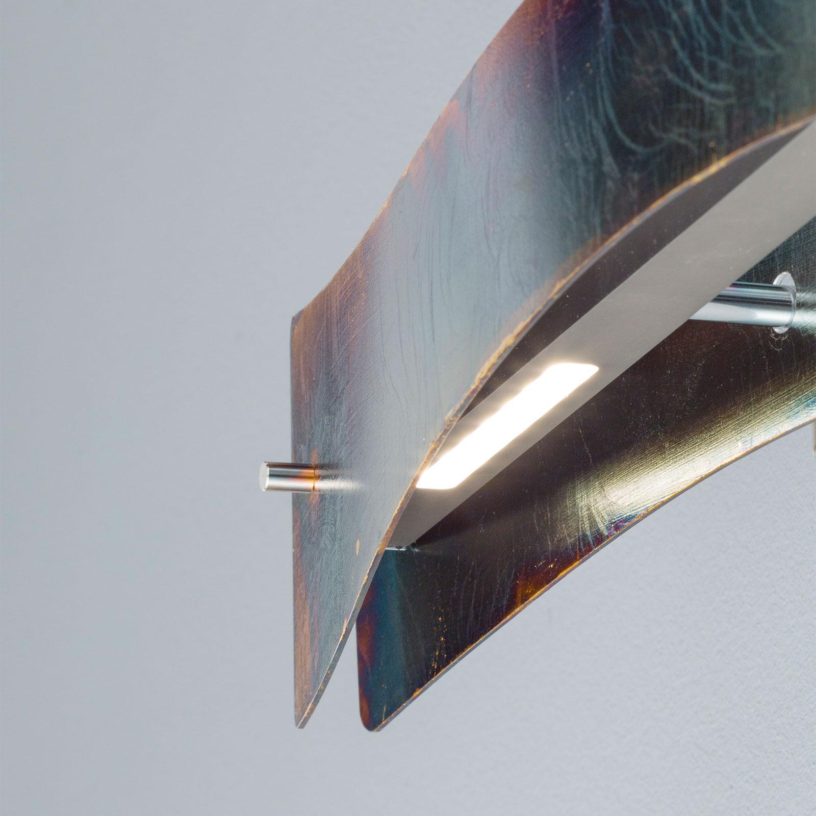 Lucande Lian applique LED, dorée oxydée