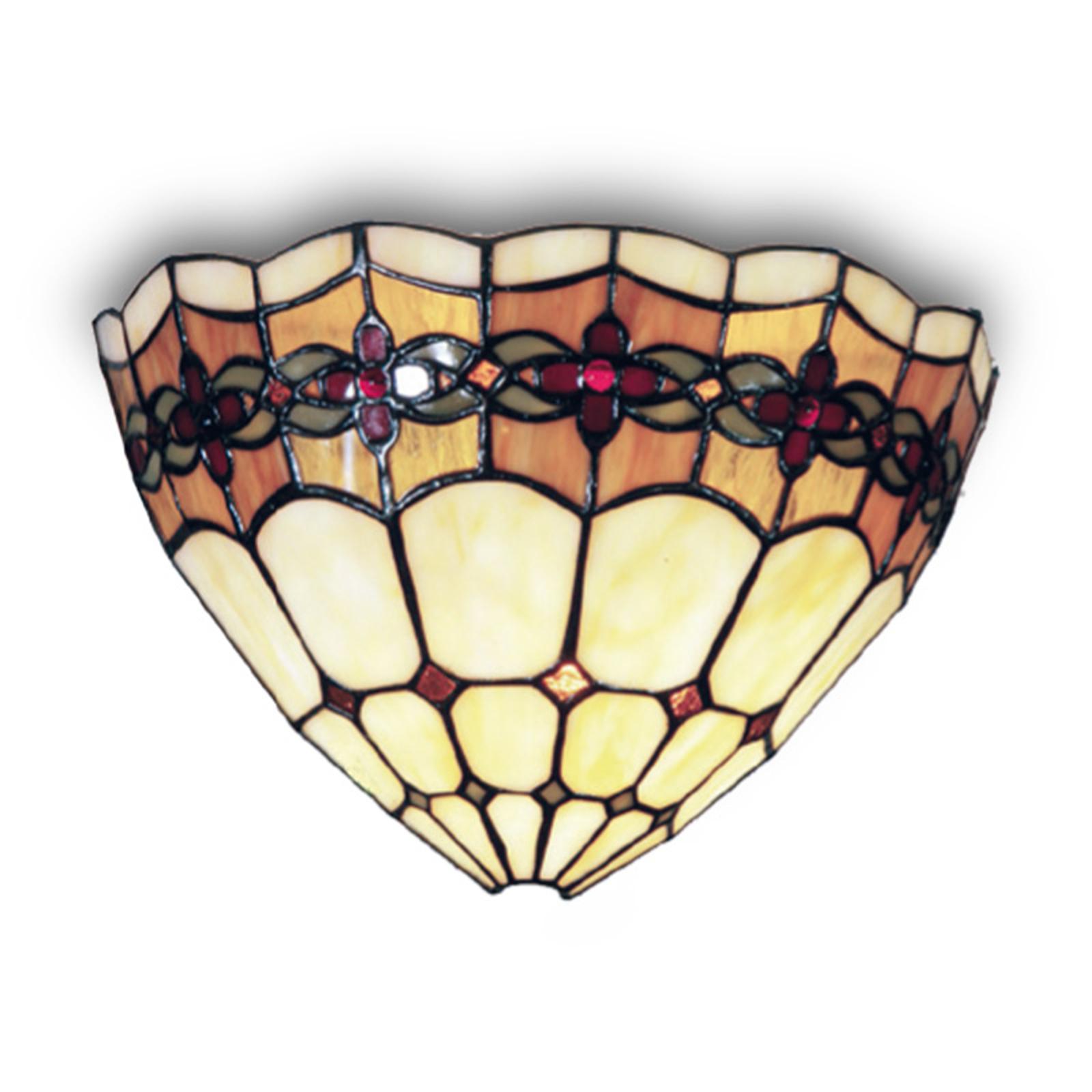 Væglampe Weena med Tiffany-dekoration