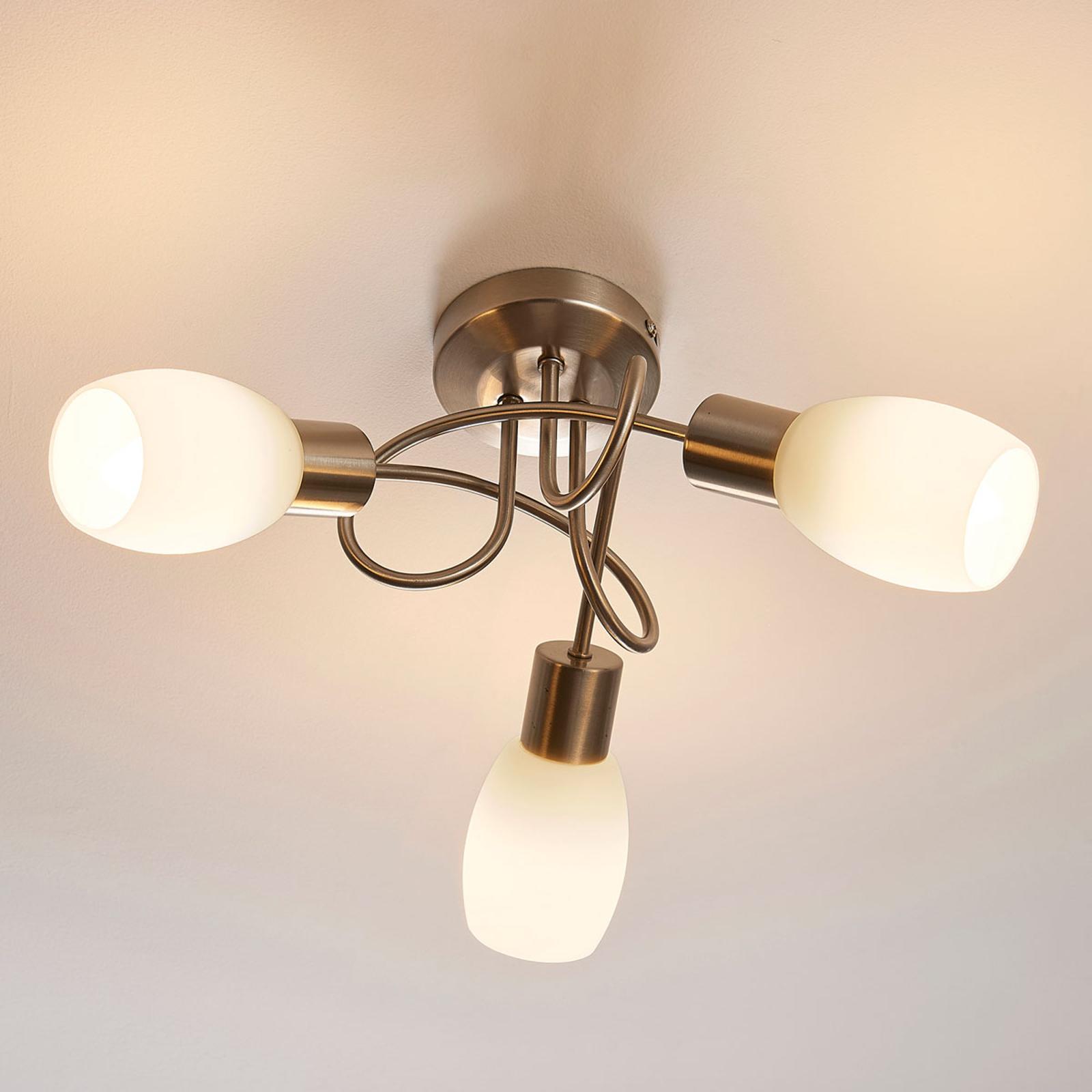 Lindby Arda LED-Strahler, Glas, dreiflammig rund