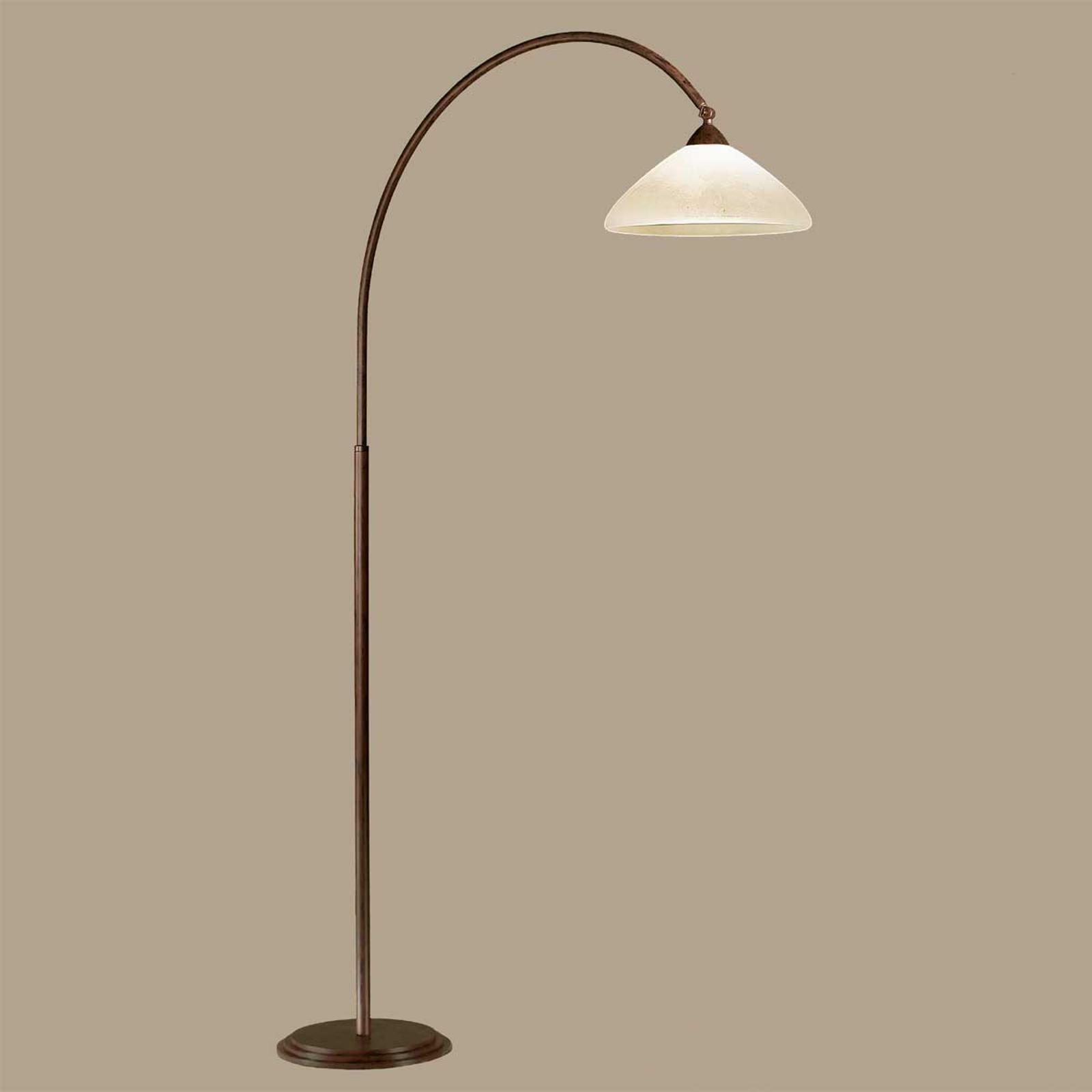 Båglampa Samuele, djup 120cm, scavo-brun