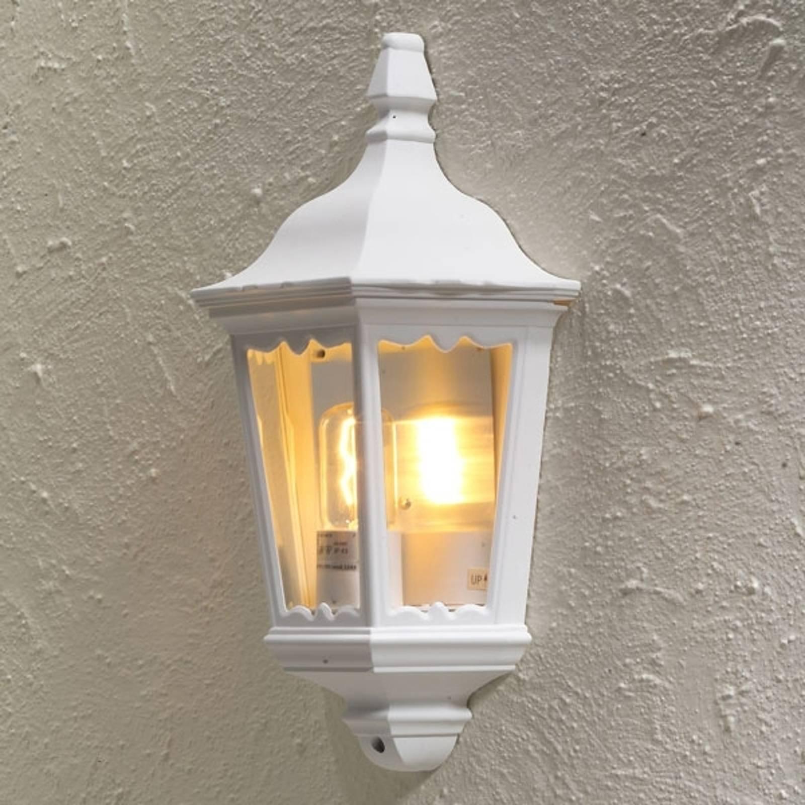 Buitenwandlamp Firenze, halve schaal, wit