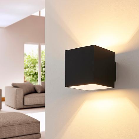 ELC Loriett wandlamp, G9, hoekig, zwart