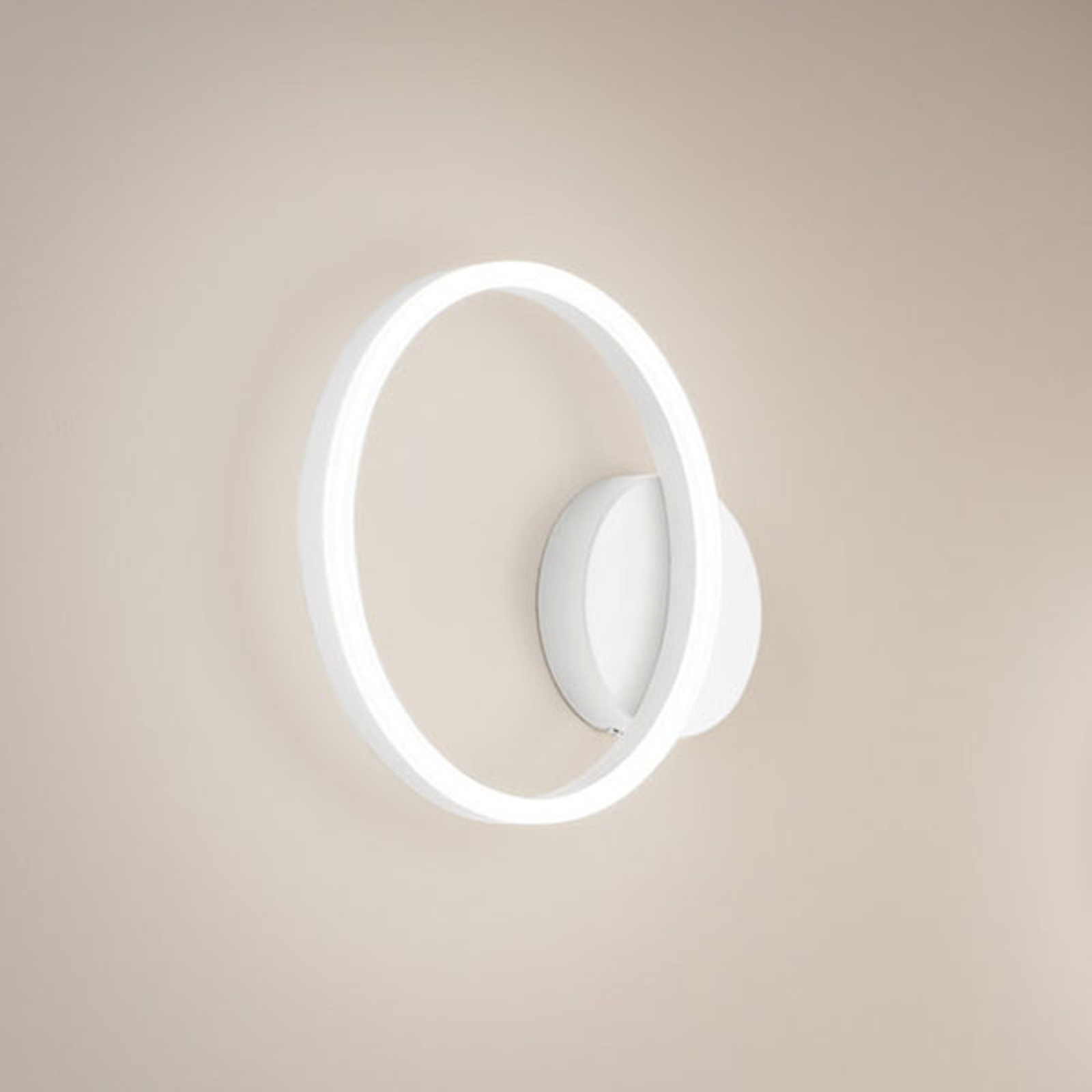 LED wandlamp Giotto, 1-lamp, wit