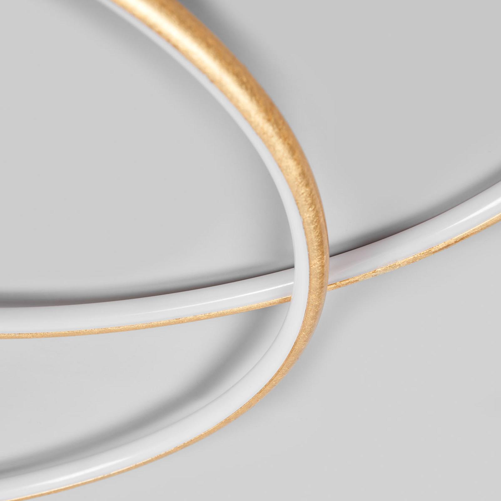 Joline vakker formet gullfarget LED taklampe | Lampegiganten.no