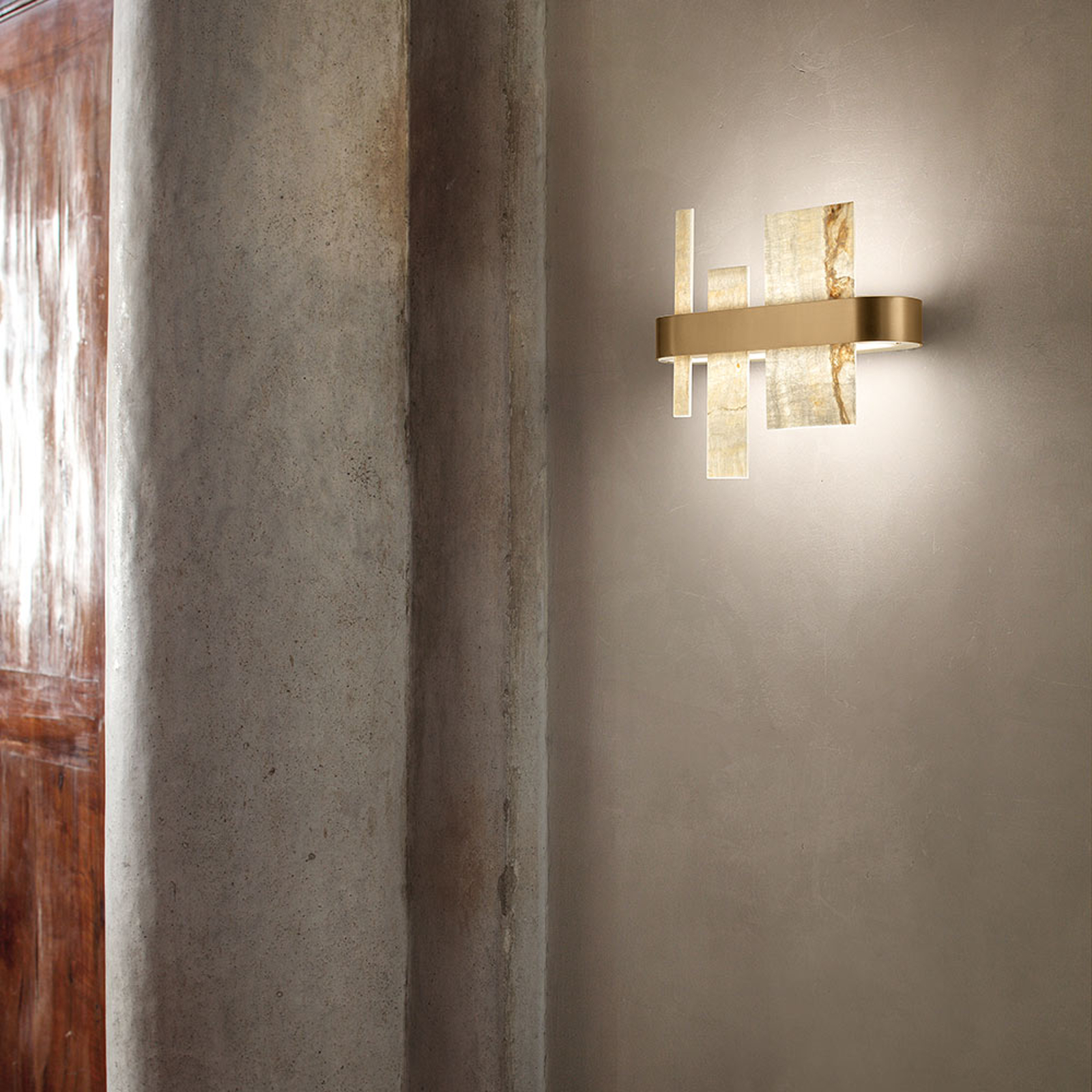 Designer-Wandleuchte Honicé mit LEDs, 37 cm