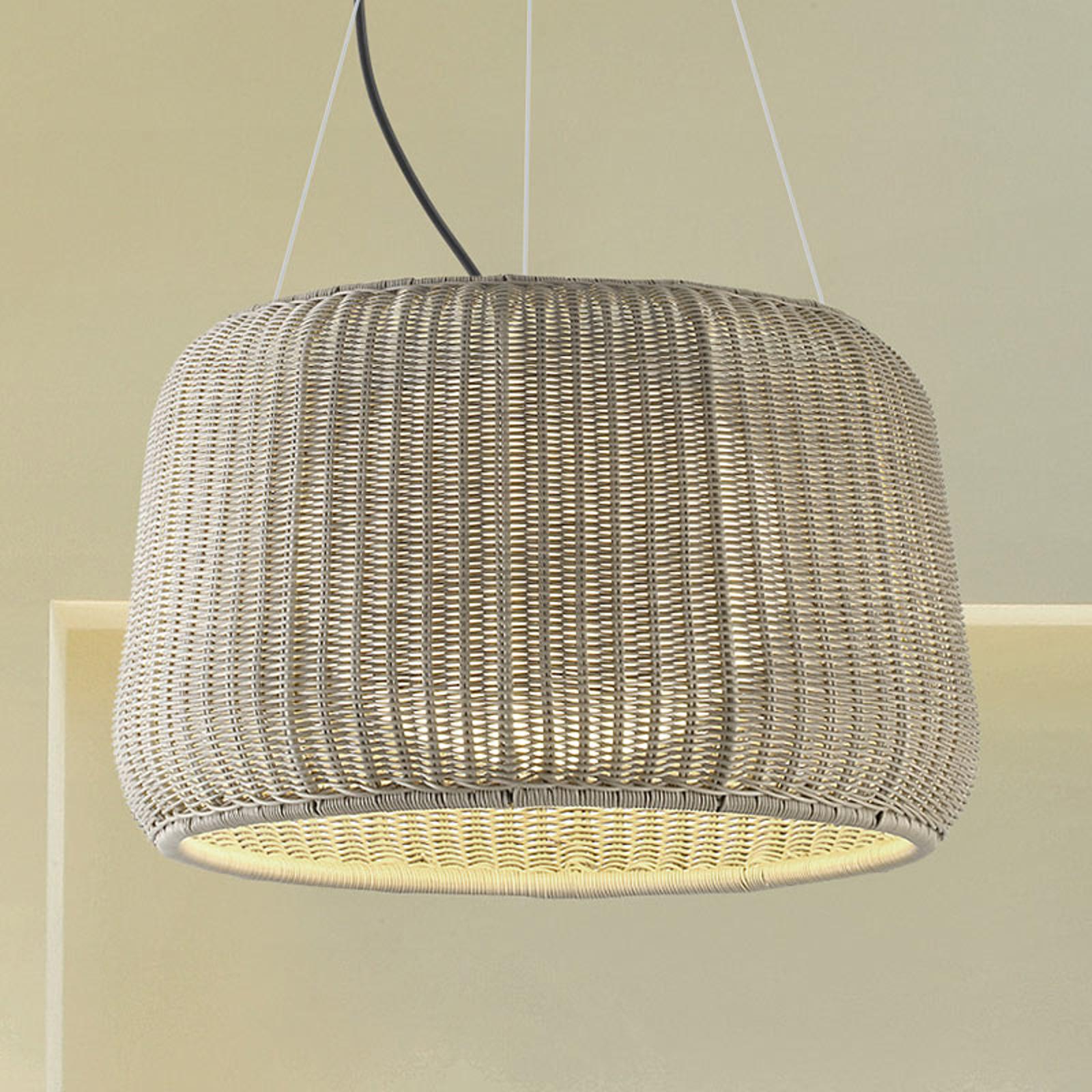 Bover Fora S - udendørs hængelampe, hvid-beige