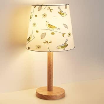 Pauleen Cute Bird lampa stołowa drewniana podstawa