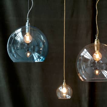 EBB & FLOW Rowan závěsné světlo modrá-stříbro
