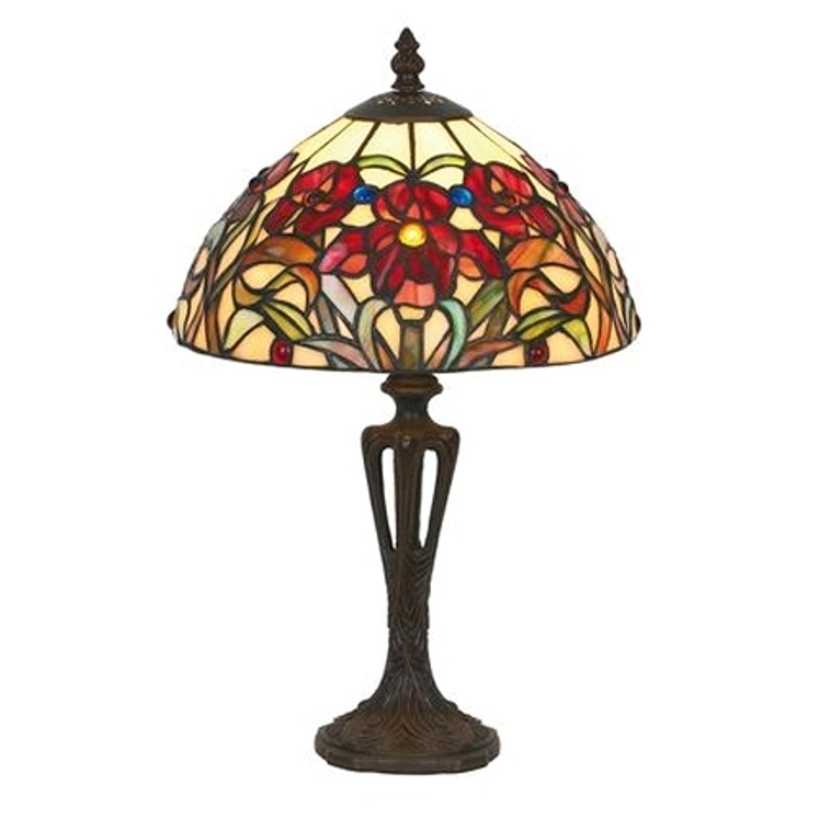 Lámpara de mesa ELINE clásica estilo Tiffany 40 cm