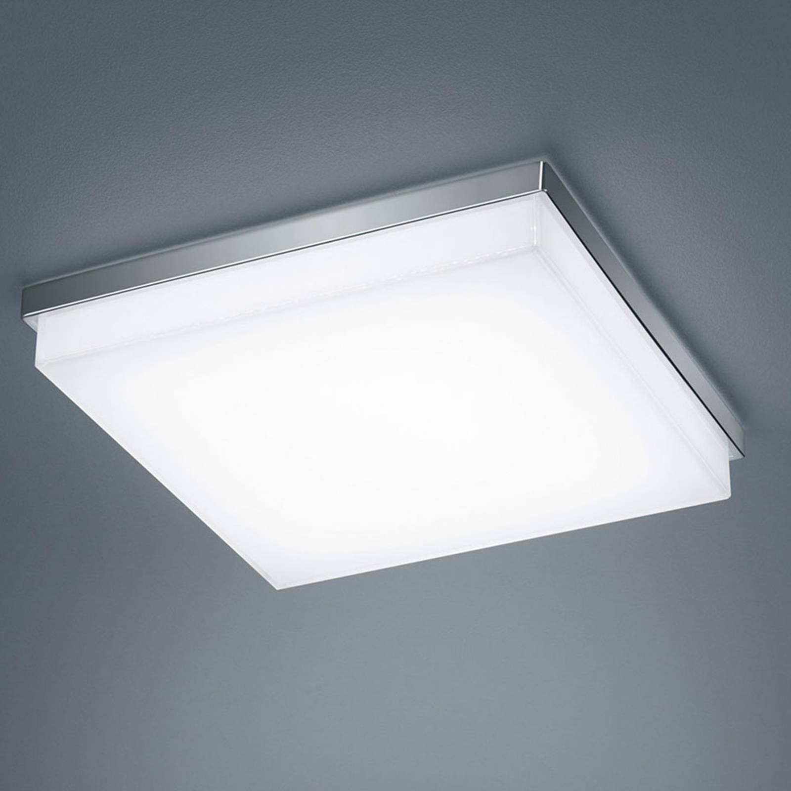 Helestra Cosi LED-Deckenleuchte chrom 31,5x31,5 cm