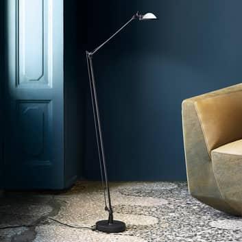 Luceplan Berenice gulvlampe svart, glass-reflektor