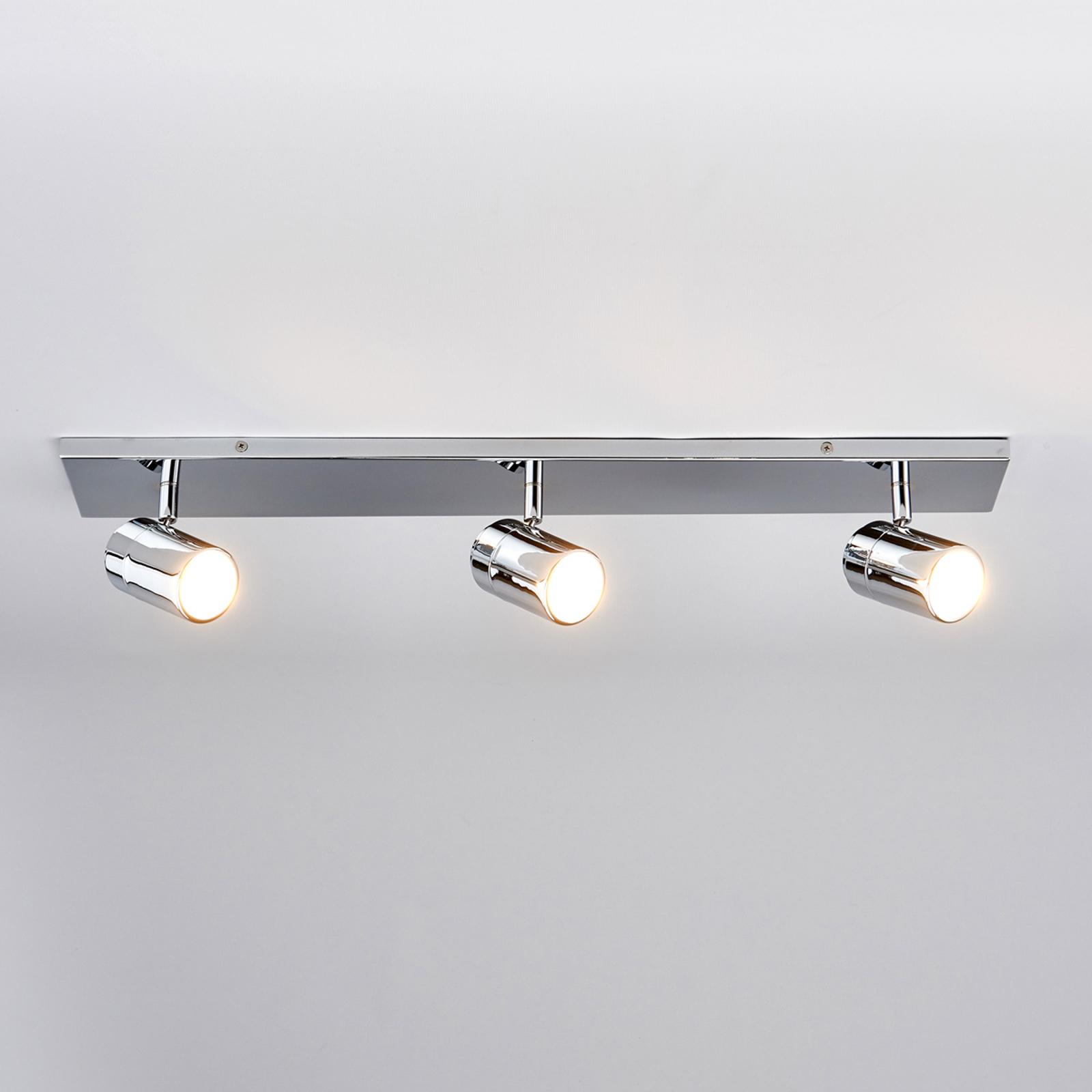 Trzypunktowa łazienkowa lampa sufitowa Dejan