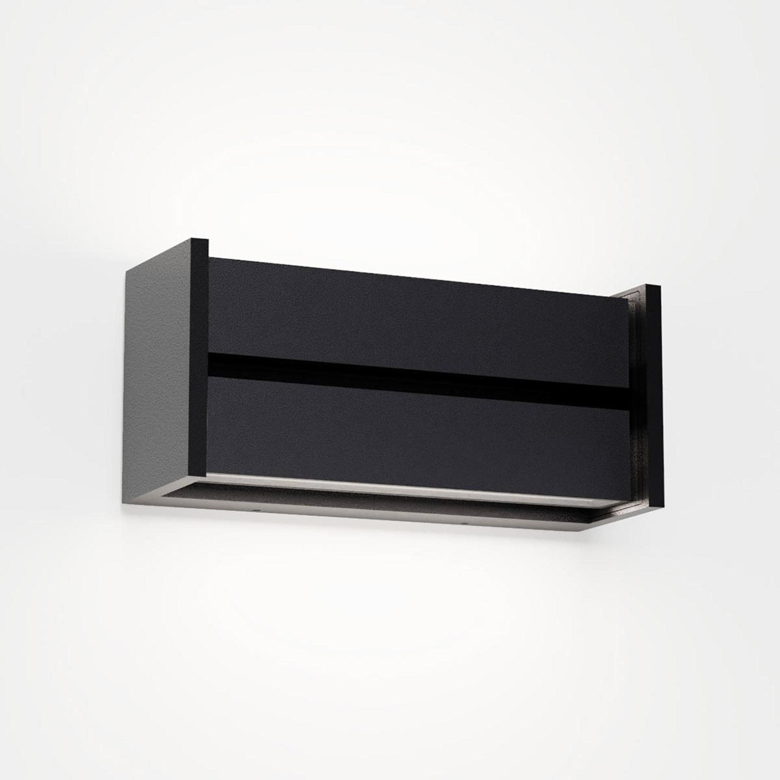 IP44.de slat LED-Außenwandleuchte, schwarz