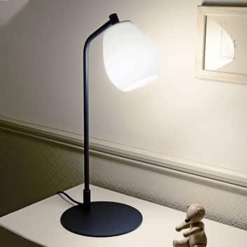 Casablanca Bagan lampa stołowa szklany biały klosz