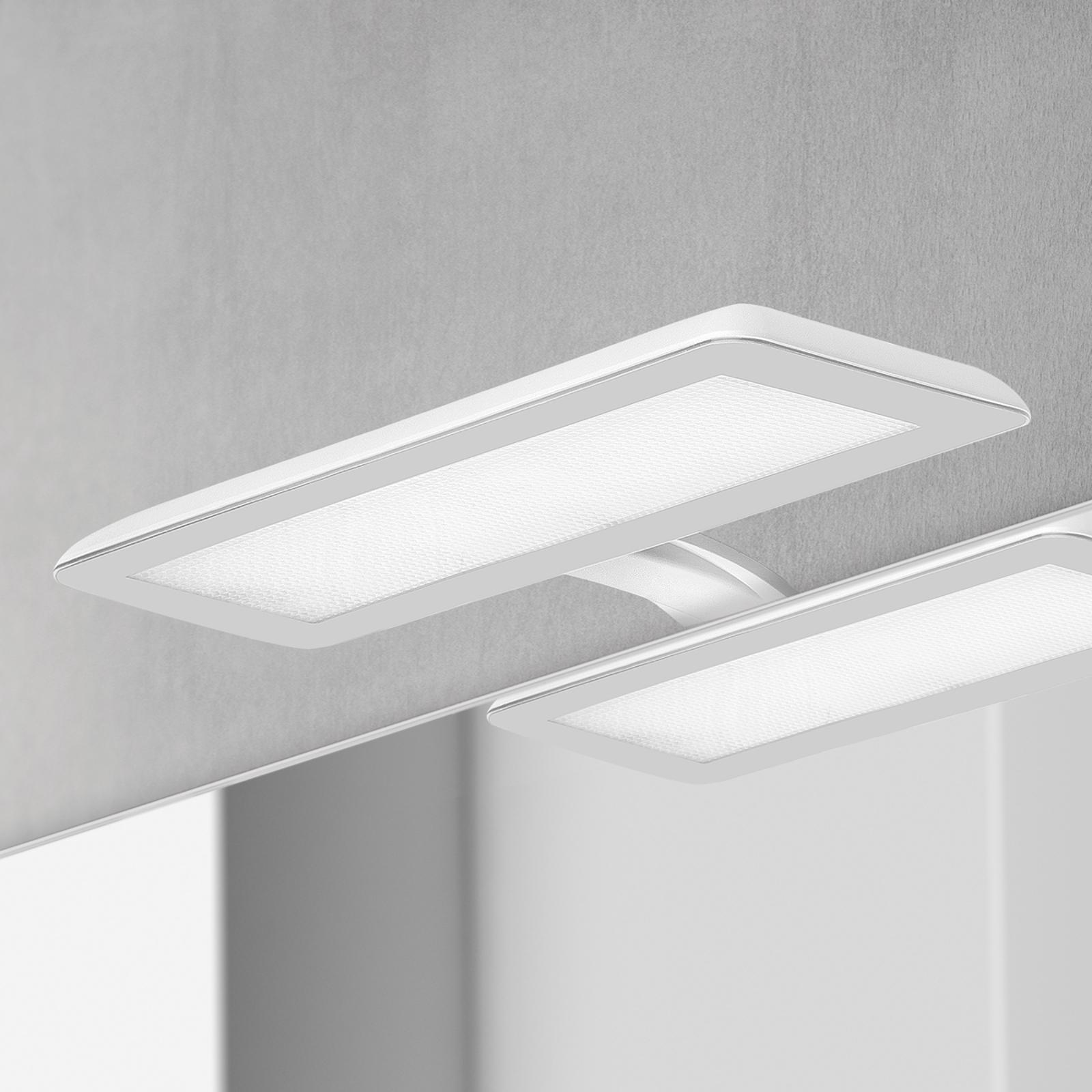 LED-spegellampa Nikita, vit/stålgrå