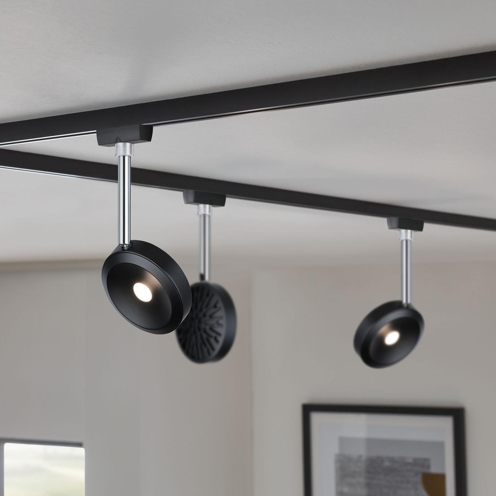 Paulmann URail spot LED Discus noir, dimmable