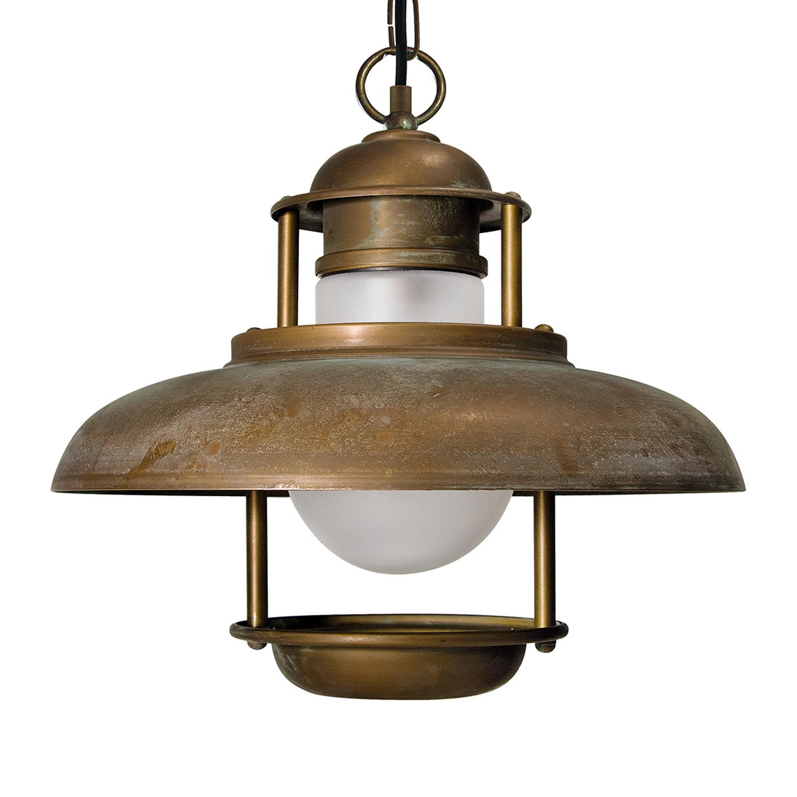 Ładna zewnętrzna lampa wisząca SALINA