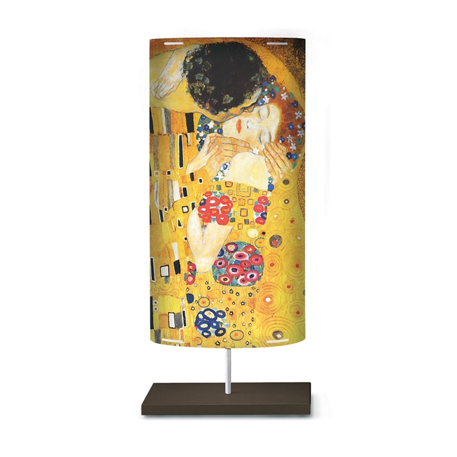 Golvlampa Klimt III med konstmotiv.