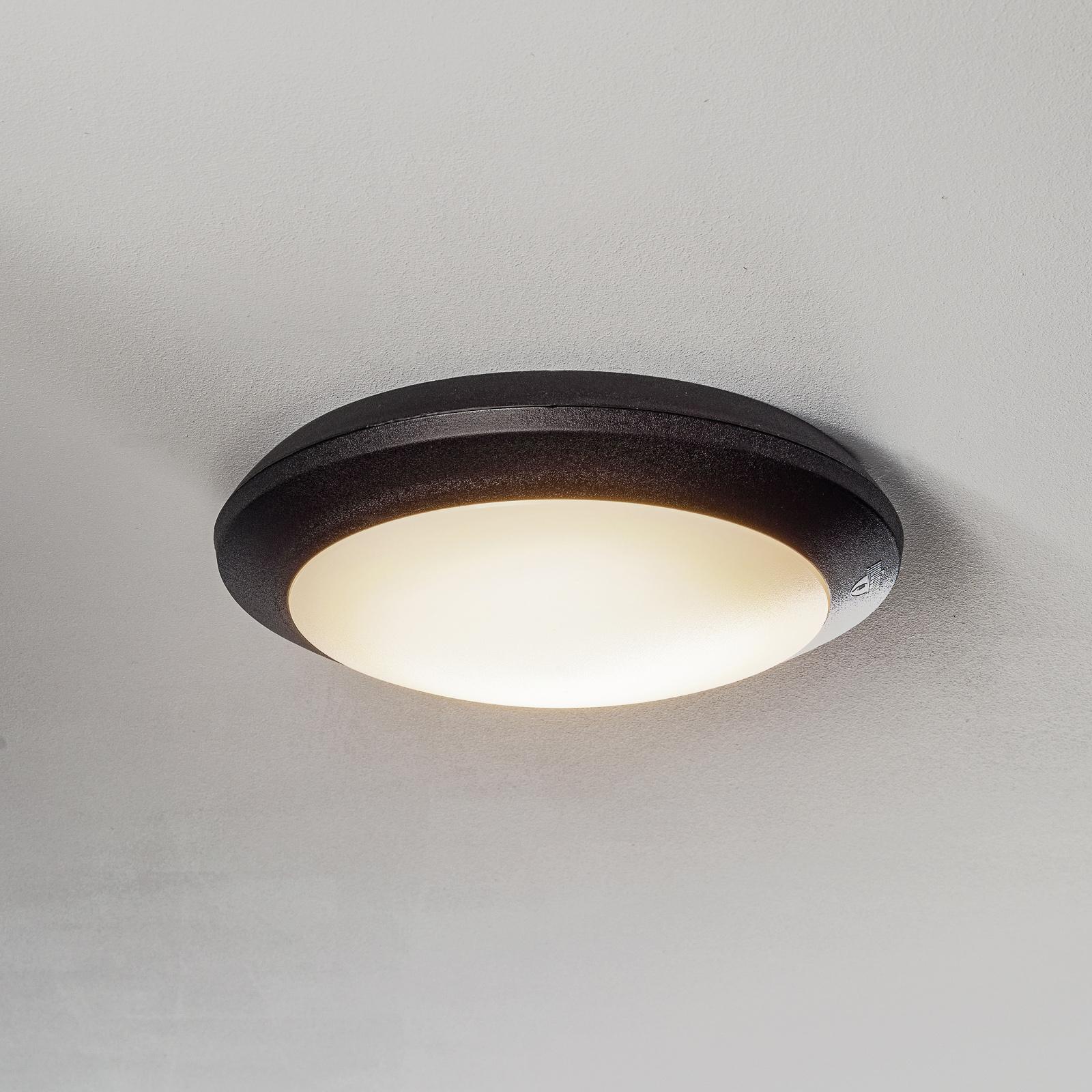 Sensor-LED-Deckenleuchte Umberta schwarz, CCT