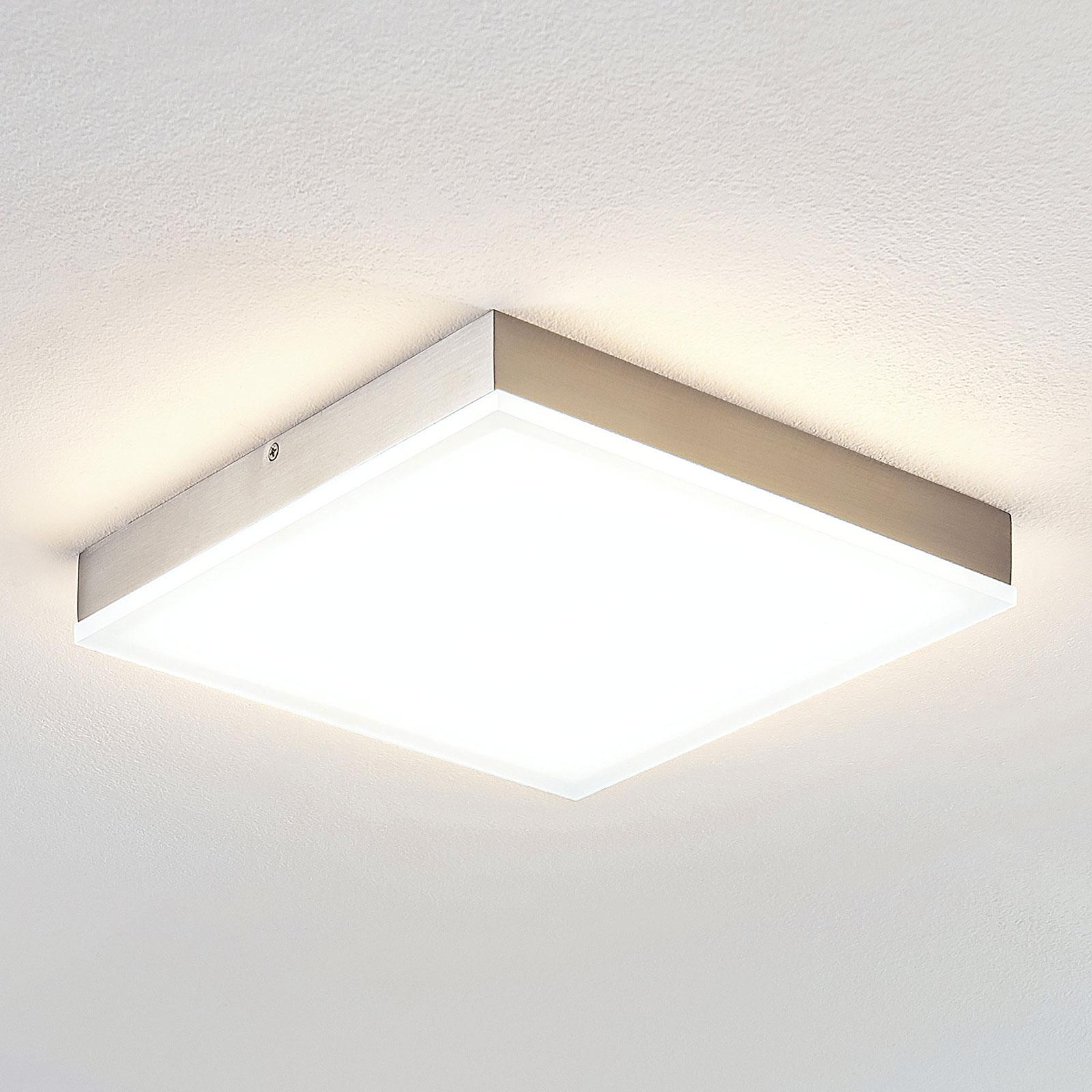 Lindby Tamito lampa sufitowa LED, nikiel, 25 cm