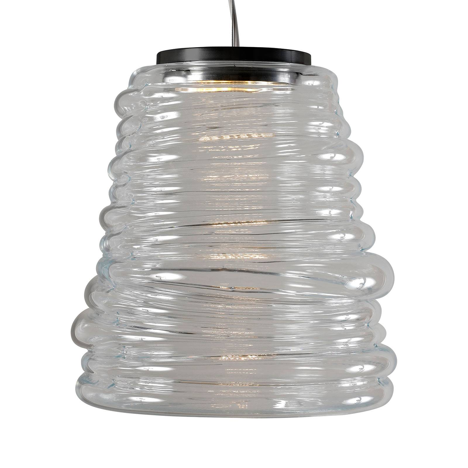 Karman Bibendum LED sospensione, Ø 30 cm, traspar.